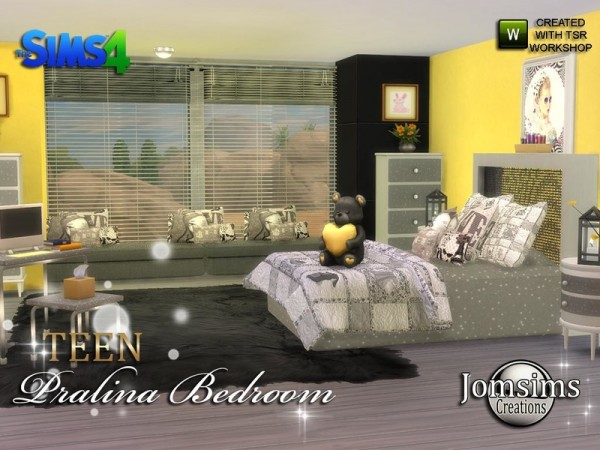 The Sims Resource: Pralina Teen Bedroom by jomsims