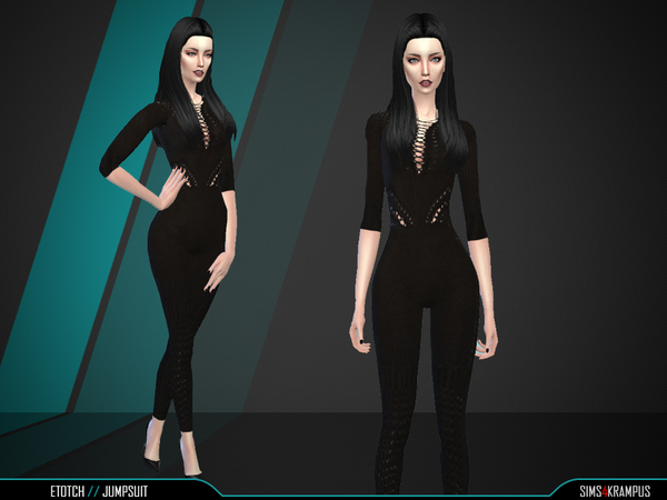 The Sims Resource: Etotch Jumpsuit by SIms4Krampus