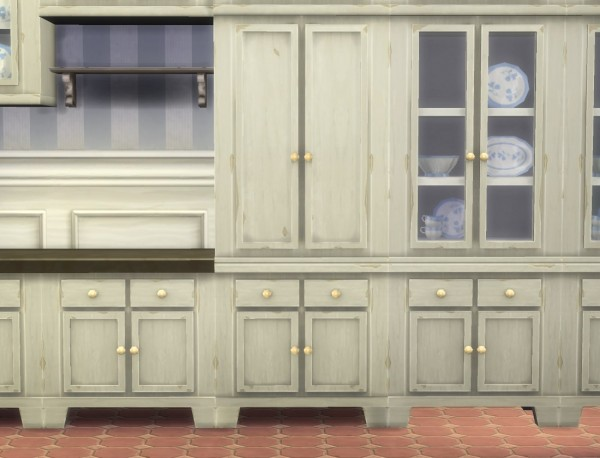 Mod The Sims: Fitted Country Kitchen Cupboard by plasticbox