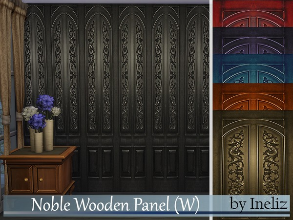 The Sims Resource: Noble Wooden Panel (W) by Ineliz