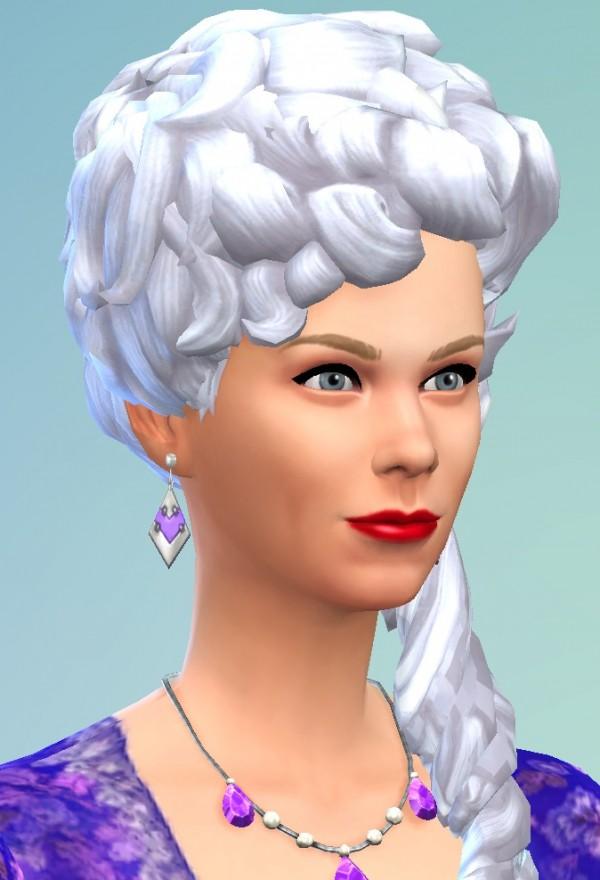 Birkschessimsblog Marie Antoinette Hairstyle Sims 4