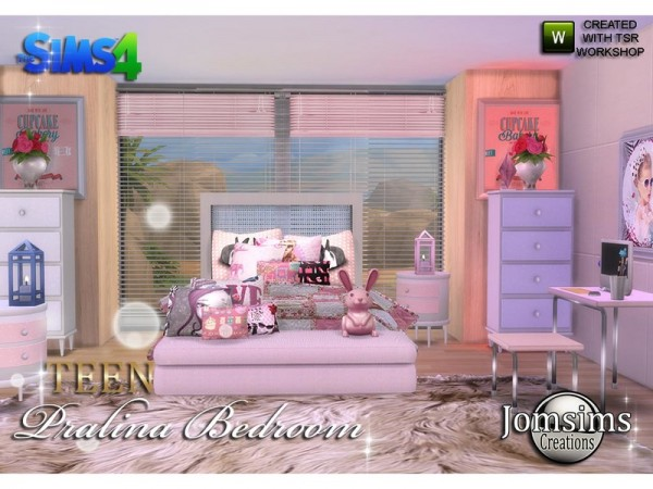 The sims resource pralina teen bedroom by jomsims sims for Bedroom designs sims 4