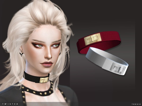 The Sims Resource: Twisted Choker by toksik