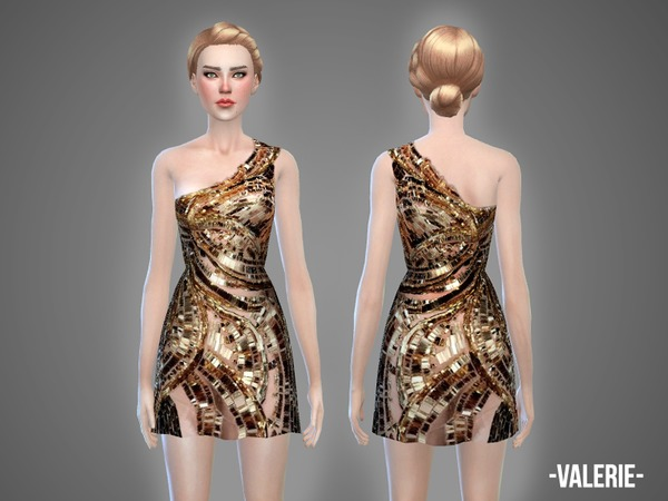 The Sims Resource: Valerie   dress by April