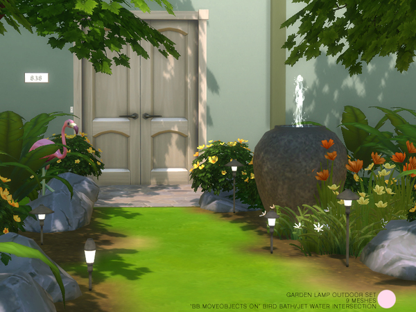 The Sims Resource: Garden Lamp Outdoor Set by DOT