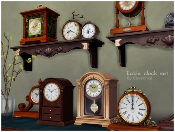 Sims by Severinka: Table clock set
