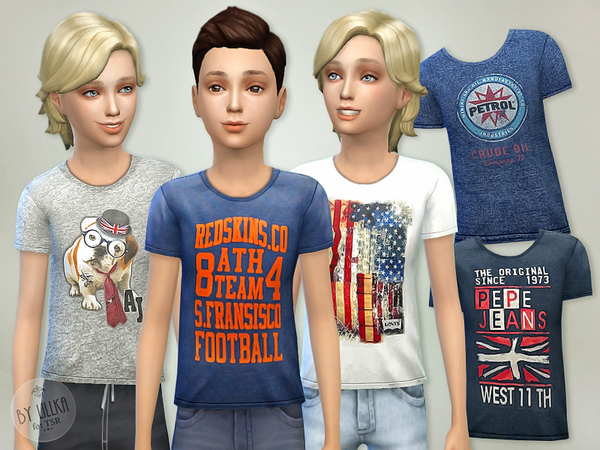 The Sims Resource: T  Shirt Collection P06 by lillka