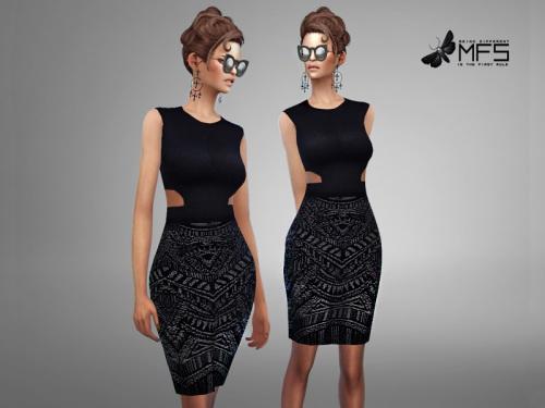 MissFortune Sims: Joyce Dress