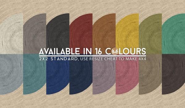 simsational designs round elm jute rugs