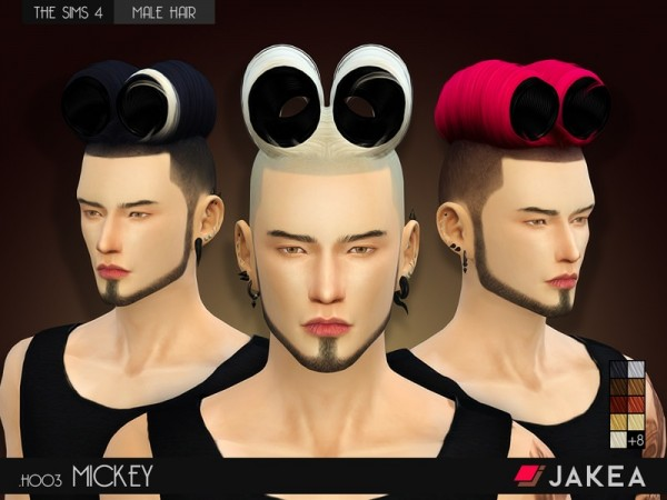 The Sims Resource: H003   MICKEY hairstyle by JAKEA