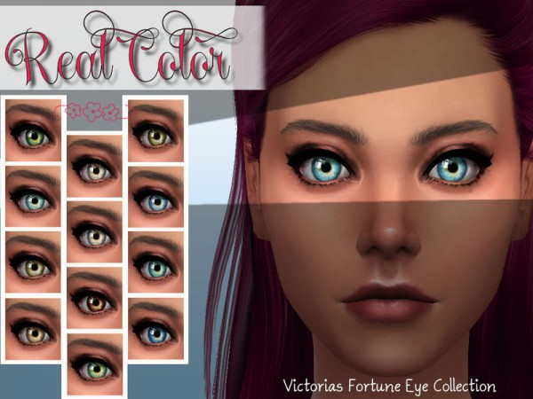 The Sims Resource: Real Color Eye Collection by Fortunecookie1