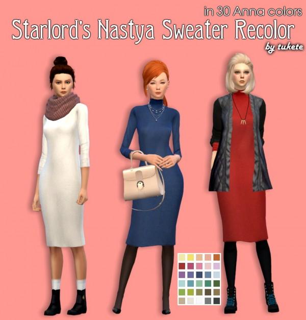Tukete: Starlord Nastya Sweater Recolors