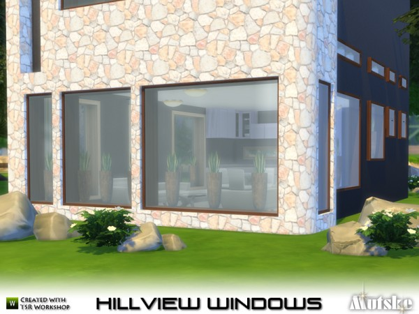 The Sims Resource: Hillview Windows with slots by mutske