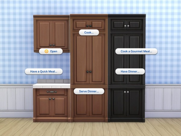 Mod The Sims: SCargeaux Cupboard and Fridge by plasticbox