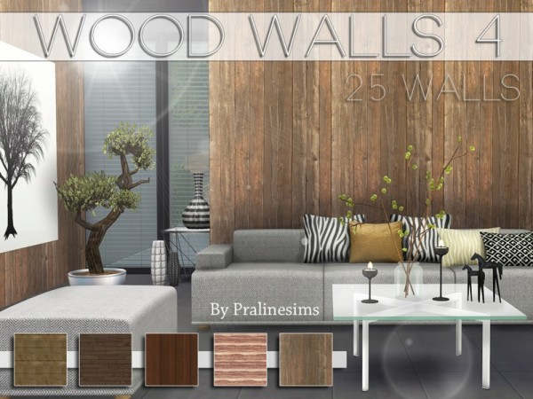 The Sims Resource Wood Walls 4 By Pralinesims Sims 4