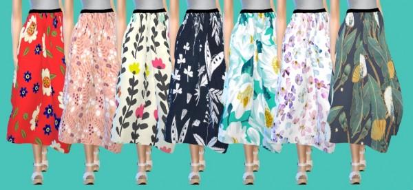 Tukete: Flare Skirt with print