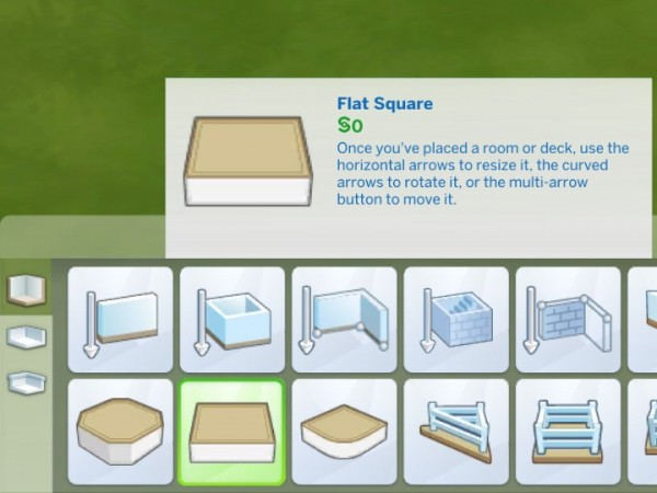 """Mod The Sims: """"Flat Square"""" Catalogue Text Fix by plasticbox"""