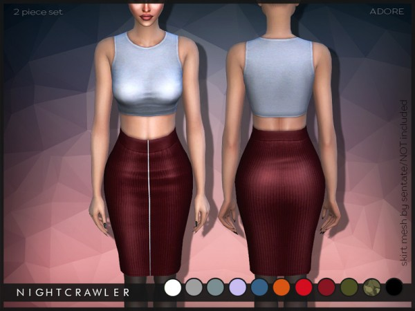 The Sims Resource: Adore (outfit) by Nightcravler
