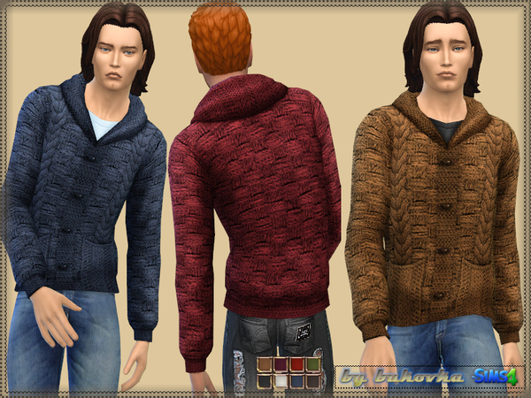 The Sims Resource: Jacket with Braids by bukovka