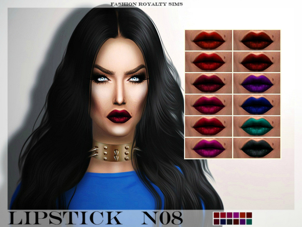 The Sims Resource: FRS Lipstick N08 by FashionRoyaltySims