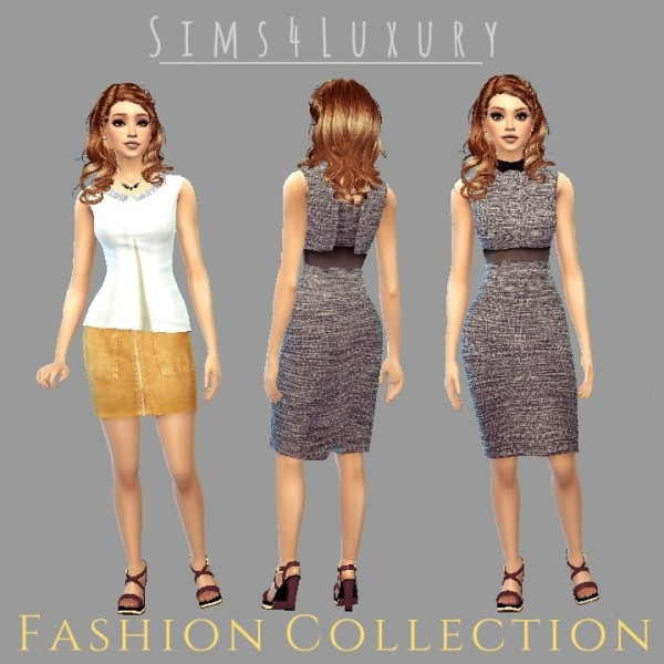 Sims4Luxury: Fashion collection 1