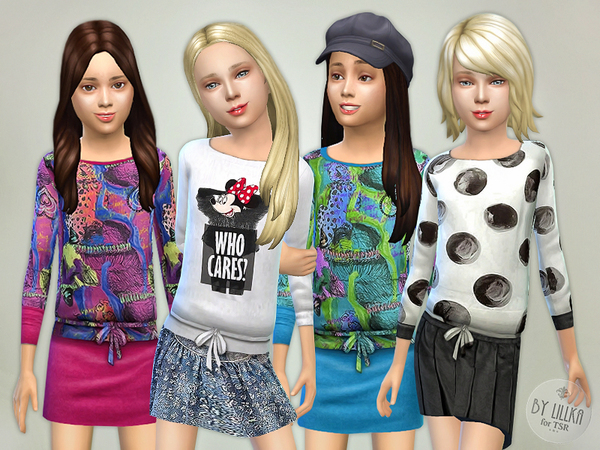 The Sims Resource: Designer Outfits   Collection P01 by lillka