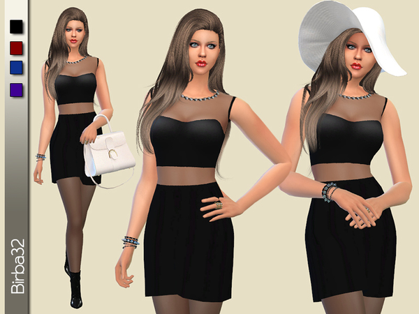 The Sims Resource: Matilde dress by Birba32