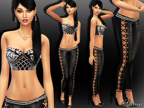 The Sims Resource: Goddess Diva Outfit by Saliwa