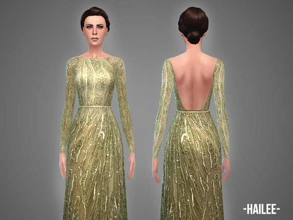 The Sims Resource: Hailee   gown by April