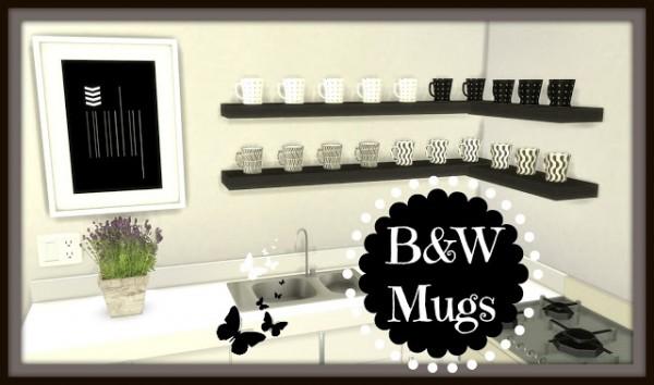 Dinha Gamer: B&W Mugs