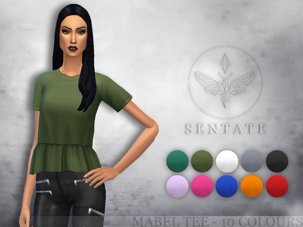 The Sims Resource: Mabel Tee by Sentate