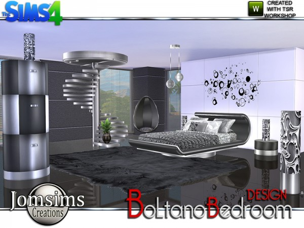 The sims resource boltano design bedroom by jomsims for Bedroom designs sims 4