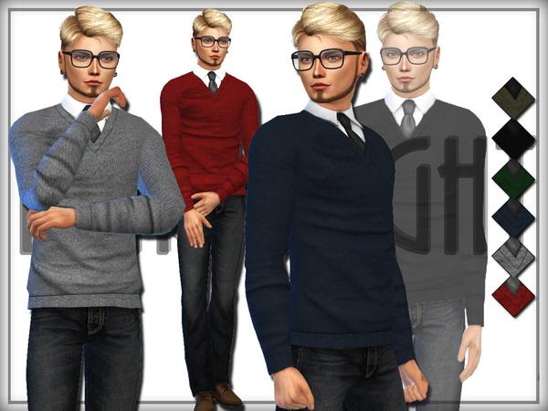 The Sims Resource: Shirt & Sweater by DarkNighTt