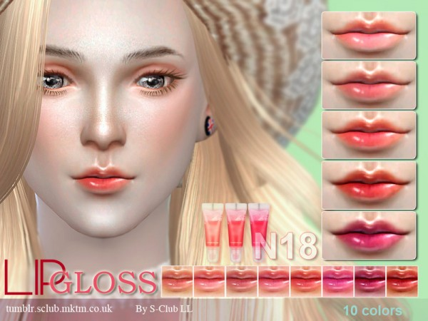 The Sims Resource: Lipstick F18 by S Club