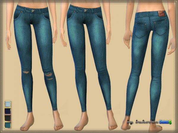 The Sims Resource: Pants Denim Jeggings by bukovka