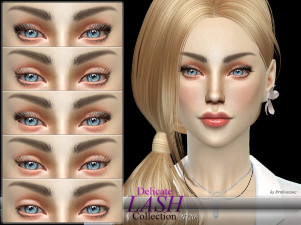 The Sims Resource: Delicate Lash Collection N20 by Pralinesims