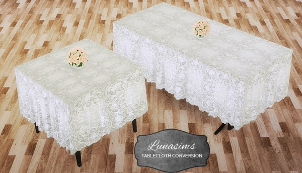 Mio Sims: Luna sims table cloth converted