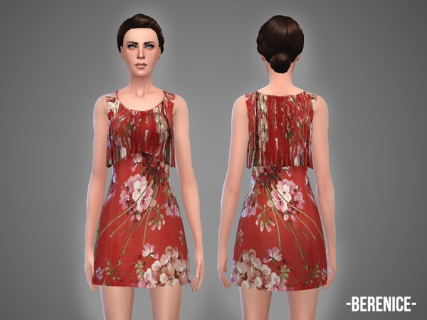 The Sims Resource: Berenice   dress by April
