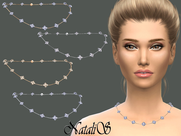The Sims Resource: Multi crystals necklace by NataliS