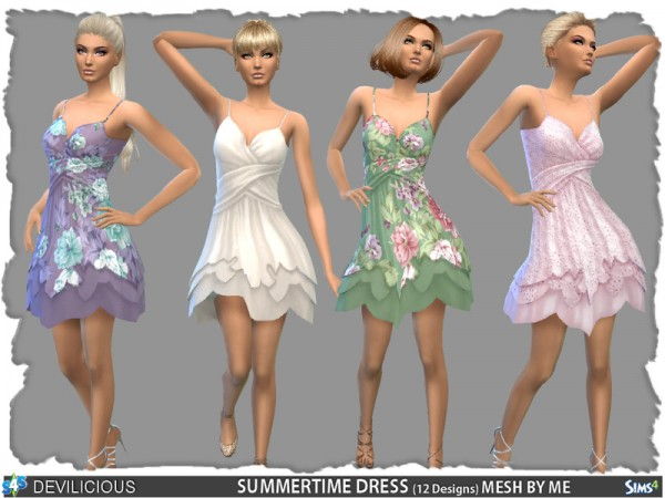 The Sims Resource: SummerTime Dress 12 Designs by Devilicous