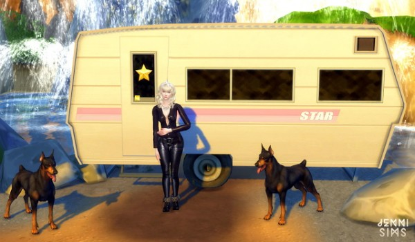 Jenni Sims: Hollywood Sets Decoration  Jurassic Park, Hollywood Sign, Dresstrailer, Dog