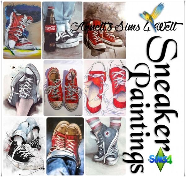 Annett`s Sims 4 Welt: Sneakers Paintings