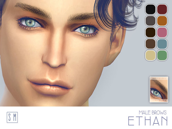 The Sims Resource: Ethan    Male Brows by Screaming Mustard