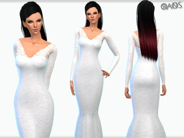 The Sims Resource Wedding Dress By Oranostr Sims 4
