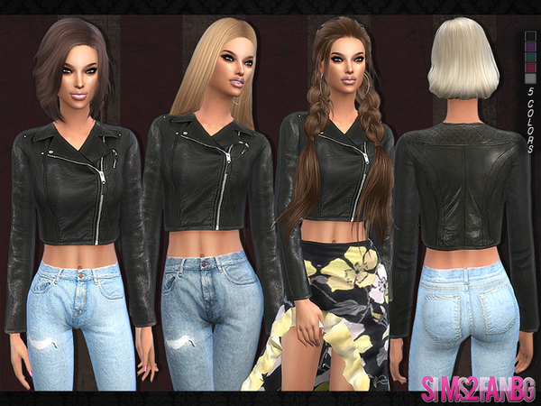 The Sims Resource 103 Leather Jacket By Sims2fanbg