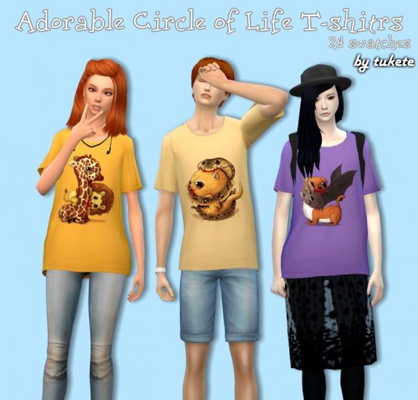 Tukete: Circle of Life T shirts