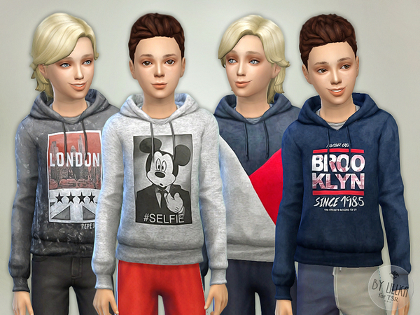 The Sims Resource: Hoodie for Boys P05 by lillka
