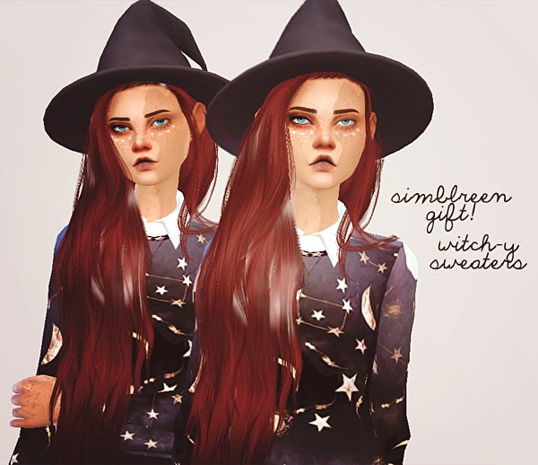 Pure Sims: Simblreen gift 2   witch y sweaters