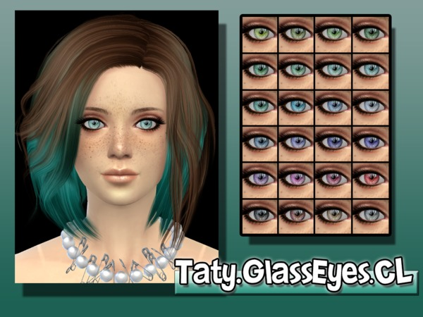 The Sims Resource: Glass Eyes CL by Taty