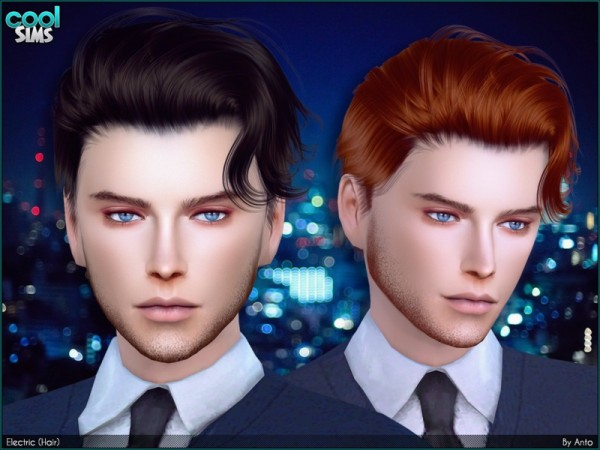 The Sims Resource: Anto   Electric hairstyle